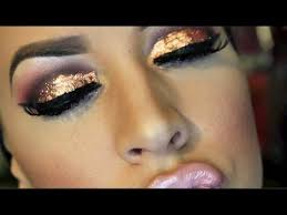 new years eve rose gold foil makeup tutorial