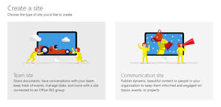 Sharepoint Team Site Template What To Choose A Communication Or Team Site In Sharepoint