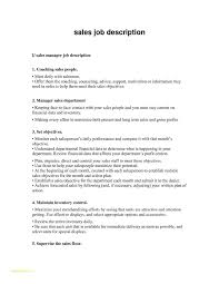 Sample Resume Format For Sales Executive With Job Description For