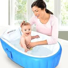 infant to toddler bathtub inflatable baby mini swimming pool non slip travel air bath basin with infant to toddler bathtub