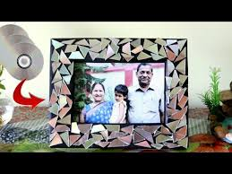 diy cd photo frame ideas best out of waste ideas recycle waste cd old cd craft ideas