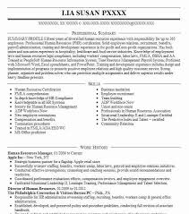 Human Resources Resume Inspiration Sample Human Resources Manager Resume Canreklonecco