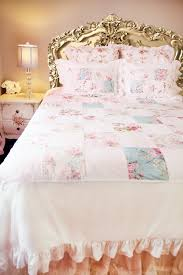 rose fl patchwork shabby chic duvet cover 24 off