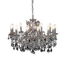 arabella mirrored 12 arm chandelier