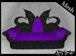 Small Picture Second Life Marketplace Mesh Gothic Wings Purple Living Room Set