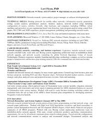 Template Network Engineer Resume Sample Job And Template S Sevte