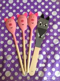 Wooden Spoon Game Prank My own 100 Little Pigs story spoons School Pinterest Spoon 83