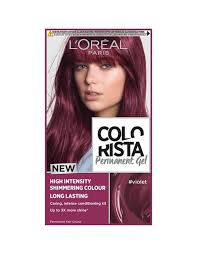 Semi Permanent Hair Dye Colour Chart Colorista Violet Permanent Hair Dye Gel Violet