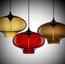 enchanting blown stained glass pendant lights design