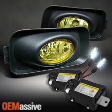 For 2004 2005 Acura Tsx Yellow Bumper Driving Fog Lights Slim Ballast 6k Hid