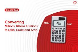Converting Million Billion Trillion Into Lakh Crore Arab