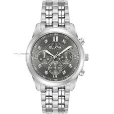 men s bulova dress chronograph diamond watch 96d135 watch shop mens bulova dress chronograph diamond watch 96d135