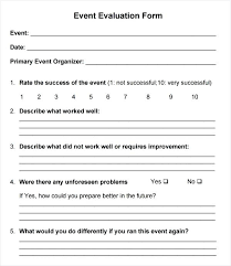 Roster Template Gorgeous Feedback Form Sample Template R Event Evaluation And Example