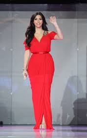 Kim Kardashian red dress in Dubai