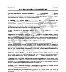residential lease agreements california california residential lease rental agreement create download