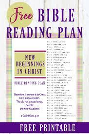 Free Bible Reading Chart Printable New Beginnings In Christ Free Bible Reading Plan
