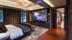 Charming Master Bedroom Theater