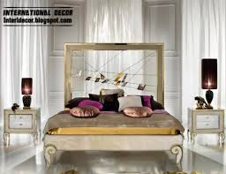 creative bed and headboard art deco style in modern interior bedroomgorgeous design style