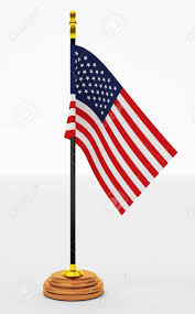 American Flag Office On White Backgrounds Stock Photo Picture And