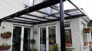 black finish patio cover using clear solid polycarbonate covers l44