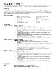 Software Engineer Resume Sample Resume Summary Software Engineer Resume For Study 75