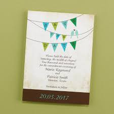 Print Save The Date Cards Rustic Bunting Save The Date Cards Little Flamingo