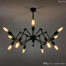 spider chandelier vintage industrial lamp edison ceiling light