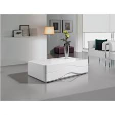 luxury modern white gloss designer coffee table white glass top gual