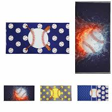 microfiber beach towel 150 75cm baseball printed rectangle towels bath towel with superfine fiber yoga mat kids blanket ooa5459 baby comfort blankets cream
