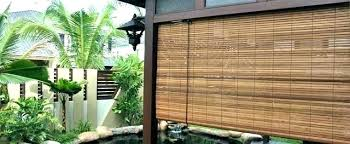 outdoor bamboo blinds roll up shades blind kl