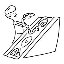 画家のフルーツサンドイッチsimplever作家takeloop デザイン