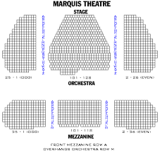 Marquis Theatre Seating Chart Marquis Theatre Seating Chart Broadway Playbill Com