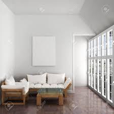 Interior Sofa Sessel Große Fenster Schöne Dachboden