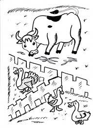 Koeien Boerderij Dieren Kleurplaten