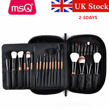 details about uk 28pcs luxury pro powder foundation makeup brushes sets with pu leather case