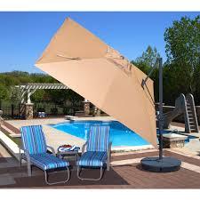 santorini ii cantilever umbrella 10 square antique beige acrylic royal swimming pools