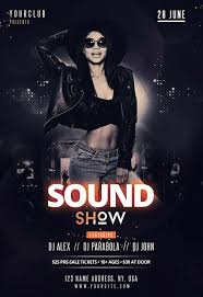 Club Flyer Templates Free Dj Sound Show Free Club Flyer Template Free Flyer