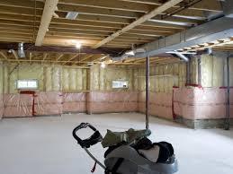 Good Unfinished Basement Ceiling Ideas Themoviegreen Basement - Painted basement ceiling ideas