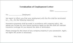 Termination Of Employment Letter Template Termination Letter From Job Termination Employment Letter Template Ideas