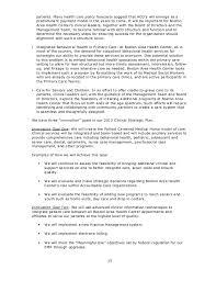 Sample Organizational Chart For Child Care Center Sample Health Center Strategic Plan June 2012