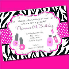 Kids Spa Party Invitations Awesome Spa Birthday Party Invitations Or