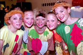 1996: Peter Pan at The Anvil – lost boys (from left) Caitlin Wood, Nicola  Hayden, Kirsty Saunders, Polly Simpson and Kelly Thomas | Basingstoke  Gazette