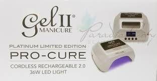Gel 2 Led Light Cordless La Palm Gel Ii Limited Edition Shimmer Platinum Pro Cure 2 0 Cordless Rechargeable Lamp