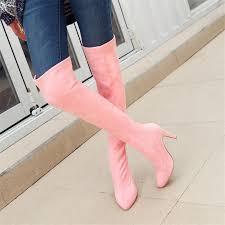 plus size 34 48 new fashion women mid heels knee high boots ladies metal rivets punk martin zipper knight 2018 shoes