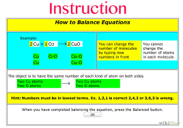 how to balance chemical equations using funbasedlearning