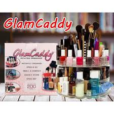glam caddy 360 degree rotating cosmetic makeup organizer 11street msia makeup brushes accessories