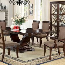 contemporary modern wood sophisticated and sleek dining room set 4 upholstered side chairs 2