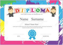 Graduation Certificate Template For Preschool Template