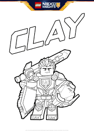 Small Picture Clay With Shield Colouring Page Activities NEXO KNIGHTS LEGOcom