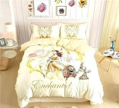 beauty and the beast bedding twin princess belle sets for girls